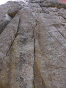 Rock Climbing Photo: Start of Holy Ascension. The two bolts to the righ...