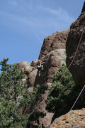 Rock Climbing Photo: Melanie Colbert from a distance
