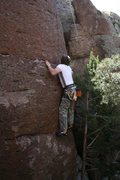 Rock Climbing Photo: Mark pulling hard.
