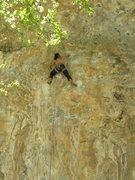 Rock Climbing Photo: Cranking through the crux.