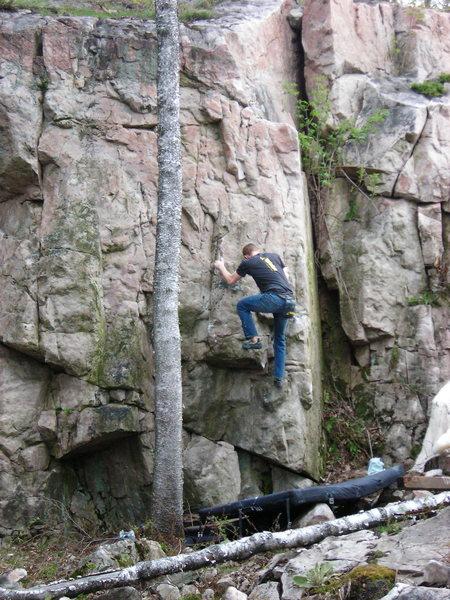 Rock Climbing Photo: Second