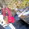 Ashley Gann on Tommy's Arete.