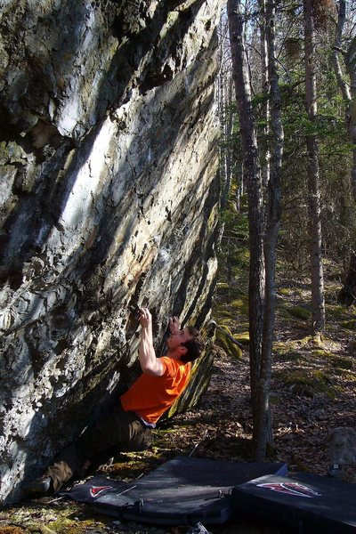 Rock Climbing Photo: Tom Scupp on the 2nd ascent.