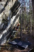 "Rock Climbing Photo: Jared LaVacque on the FA of ""Finger on the Tr..."