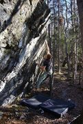 """Rock Climbing Photo: Jared LaVacque on the FA of """"Finger on the Tr..."""