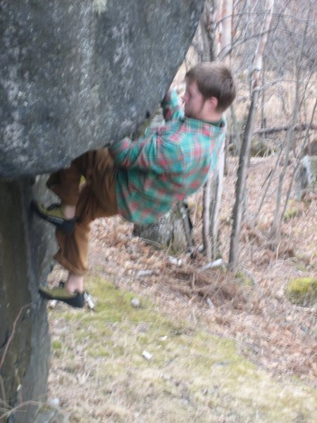 Rock Climbing Photo: wrastl'n the roof...in 04'