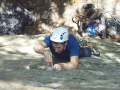 Rock Climbing Photo: leading a short 5.6 climb