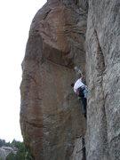 Rock Climbing Photo: At the crux of Cosmosis.