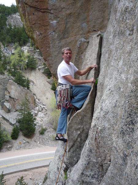 Rock Climbing Photo: Starting Cosmosis.