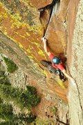 Rock Climbing Photo: Adam on Pony Express.