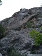 Rock Climbing Photo: Road Runner (5.9) climbs the steep face left of th...