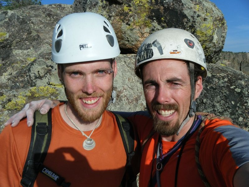 Rock Climbing Photo: With Dusty, after topping out Atlantis in the Blac...