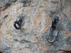 Rock Climbing Photo: The old belay/rappel anchor for The Long Haul at t...
