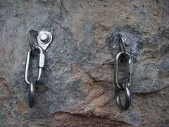 Rock Climbing Photo: The new belay/rappel anchor for The Long Haul at t...