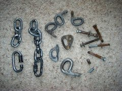 Rock Climbing Photo: Old hardware from the Puoux rebolting work.
