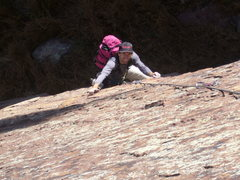 Rock Climbing Photo: Glen C. Making it look easy with a pack on.