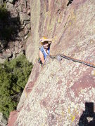 Rock Climbing Photo: Cindy Following the first pitch.