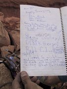 Rock Climbing Photo: Legends in the summit register.