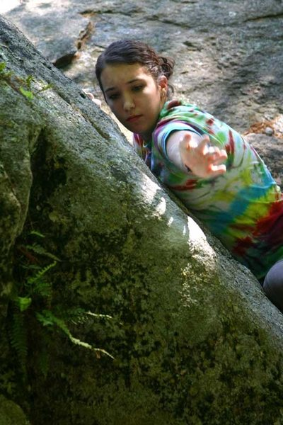 Rock Climbing Photo: Olivia going for it..