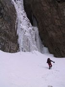 Rock Climbing Photo: Approaching the falls in '02.