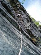 Rock Climbing Photo: Hawk  crazy for 5.4