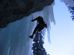 Rock Climbing Photo: Gaining the ice.