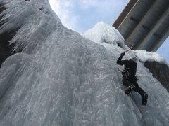 Rock Climbing Photo: Swingin' on Whitt's World.