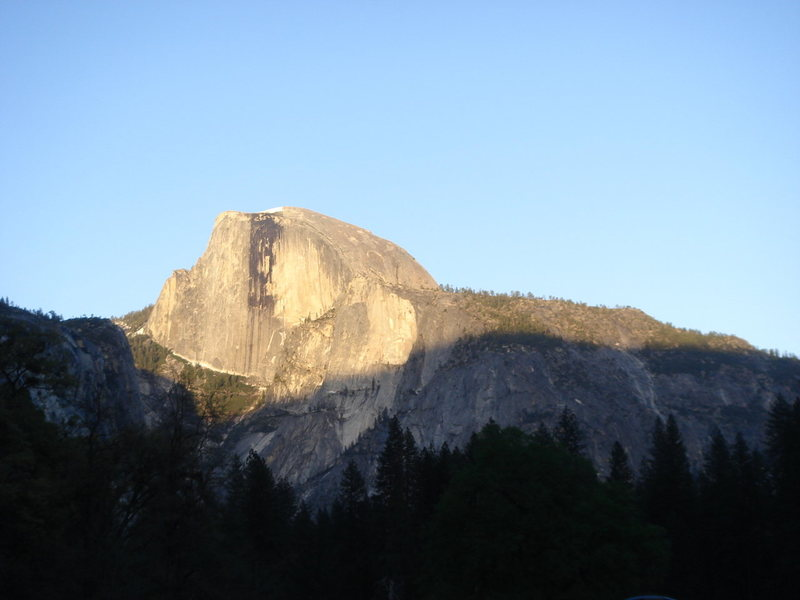 Day 1 - Half Dome, late afternoon.