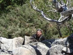 Rock Climbing Photo: Day 2 - Joe finishing After Seven (5.8).