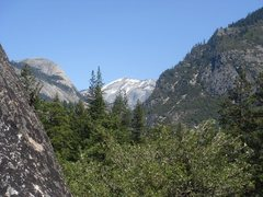 Rock Climbing Photo: Day 2 - Clouds Rest and North Dome, from the Manur...
