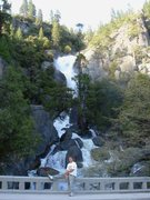 Rock Climbing Photo: Day 3 - Me in front of Cascade Falls.  Photo by Jo...