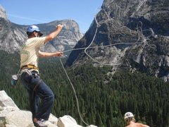 Rock Climbing Photo: Day 4 - Yeehaw Jerry!  Top of the Grack, Glacier P...