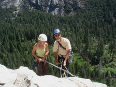 Rock Climbing Photo: Day 4 - Sandra and Jerry starting the first simul-...
