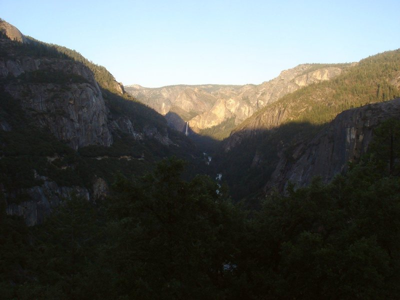 Day 4 - Day's end, looking back up the Merced to Bridalveil Falls.