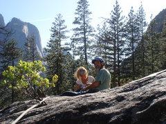Rock Climbing Photo: Day 6 - Sandra and Jerry on the huge optional bela...