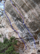 Rock Climbing Photo: Looking up at Snake Dance and Slab City