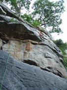 Rock Climbing Photo: My wife enjoying 69.