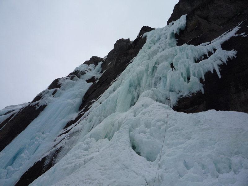 Rock Climbing Photo: Rick on the last rappel.