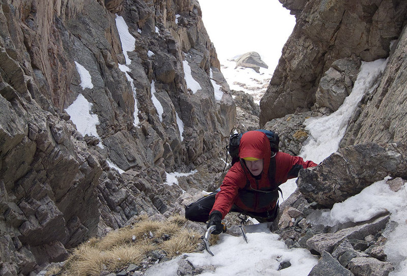 2009.05.20 Shuhlakeiss, having cleared the second crux of Martha, RMNP.