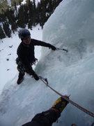 Rock Climbing Photo: Rick finishing the second pitch.