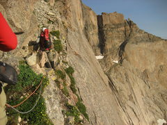 Rock Climbing Photo: Traversing Broadway on the way to the Notch Coloui...