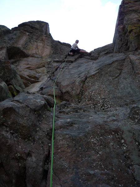 Rock Climbing Photo: On the last pitch.