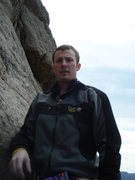 Rock Climbing Photo: Me getting ready to lead P3