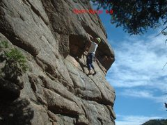 Rock Climbing Photo: Photo of Don Allred at the roof.