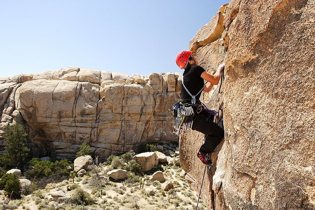 Lisa Pritchett - Unnamed route, Joshua Tree National Park, California