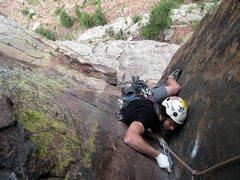 Rock Climbing Photo: Dane Casterson on Vertigo. 5.31.07 Mike Morley.