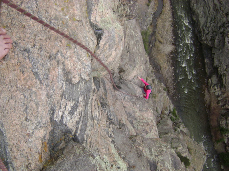 Rock Climbing Photo: Looks like I climbed all the way up from the water...