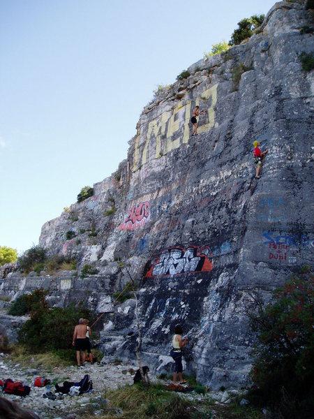 Rock Climbing Photo: Rovinj urban crag on the Istrian peninsula. The Ve...
