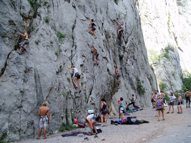 Rock Climbing Photo: Weekend scene in Paklenica. And you thought Boulde...