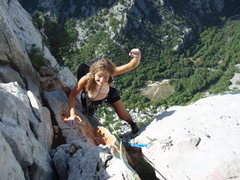 Rock Climbing Photo: Toping out the Mosaraski on Anica Kuk.